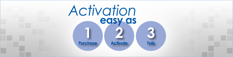 Activation is as easy as 1-2-3!